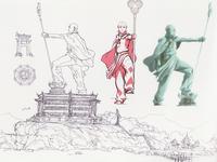 Aang's statue concept art