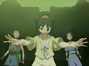 Toph, Katara, and Sokka