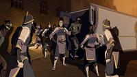 Task force arresting Equalists