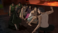Team Avatar and the Metal Clan plan