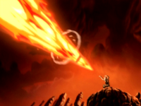 Aang's enhanced firebending