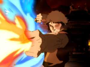 Zuko's enhanced firebending