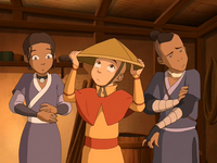 Aang's conical hat