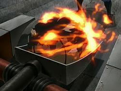 Igniting trebuchet projectile
