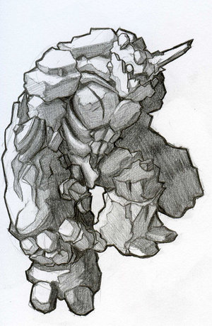File:Rock Golem Rook Earth Black by KazuKun.jpg