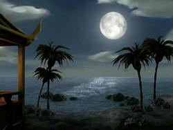 Full moon at Ember Island