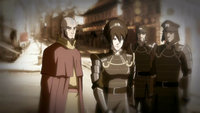 Older Aang and Toph