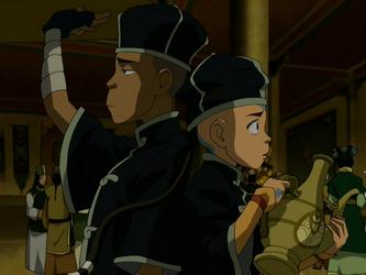 File:Sokka and Aang as servants.png