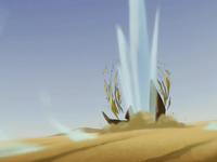 Sand-sailer exploding