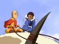 Aang and Katara atop Appa.png