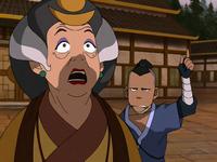 Sokka alerting Aunt Wu