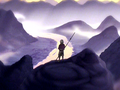 Aang standing on mountain.png