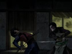 Zuko fights Jet
