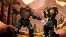 Earth Empire mecha suits