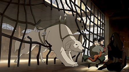 File:Naga freeing Asami, Bolin, and Iroh.png