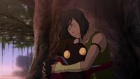 Korra hugs Tenzin's children