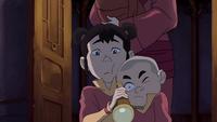 Ikki sees Jinora's spirit
