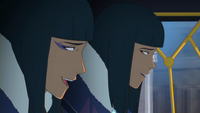 Desna and Eska laughing