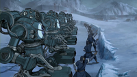 Northern Water Tribe soldiers defending portal
