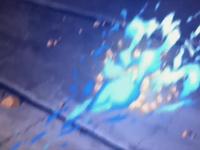 Fire blast against an earth wall