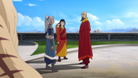 Tenzin being informed