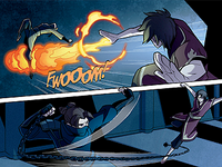 Zuko and Kori fighting