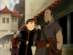 Aang using slang