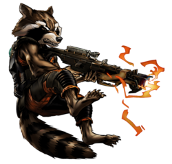 Guardian Rocket Raccoon Portrait Art