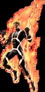 Annihilus Human Torch Right Portrait Art