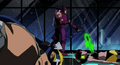Hawkeye fights while Wasp and Captain America lay unconcious.png