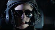 Ferro wearing helmet close-up