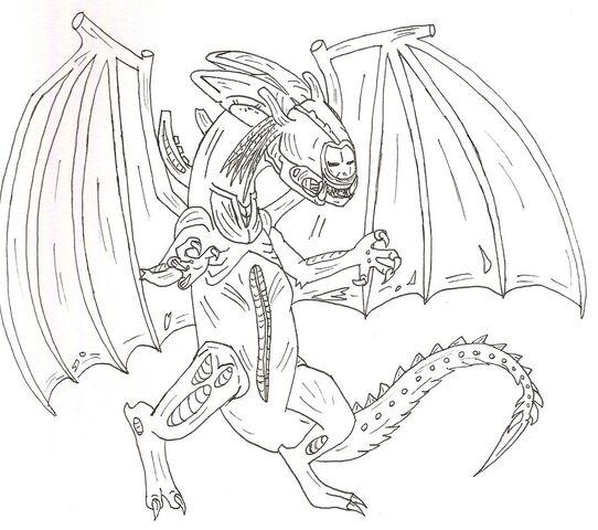 File:Predalien Dragon lineart by xtreamxboxer.jpg
