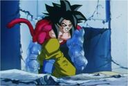 Goku Struggles While Covered in Ice
