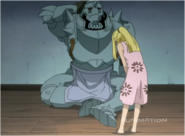 Winry Apologizes to Alphonse for Checking His Armor
