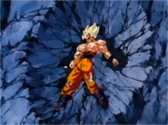 Goku After Broly Slams him into Cliffside