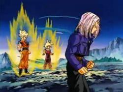 Trunks Preparing to Fight Broly Alongside Goku & Gohan