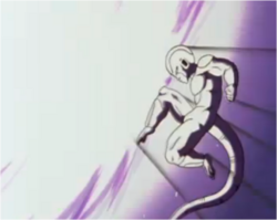 Frieza Deflecting Vegeta's Attack