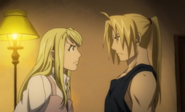 Winry Arguing With Edward Elric About Leaving Amestris