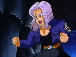 Trunks Trying to Reason With Vegeta in Broly the Legendary Super Saiyan