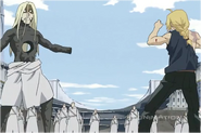 Edward Elric Having Killed Father by Punching Through Him