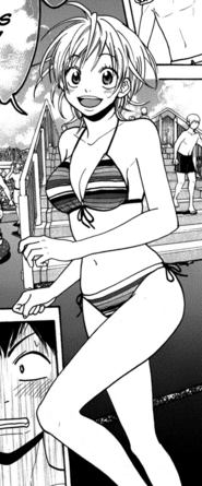 Natsu at the pool