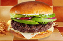 California christian burger with red onion