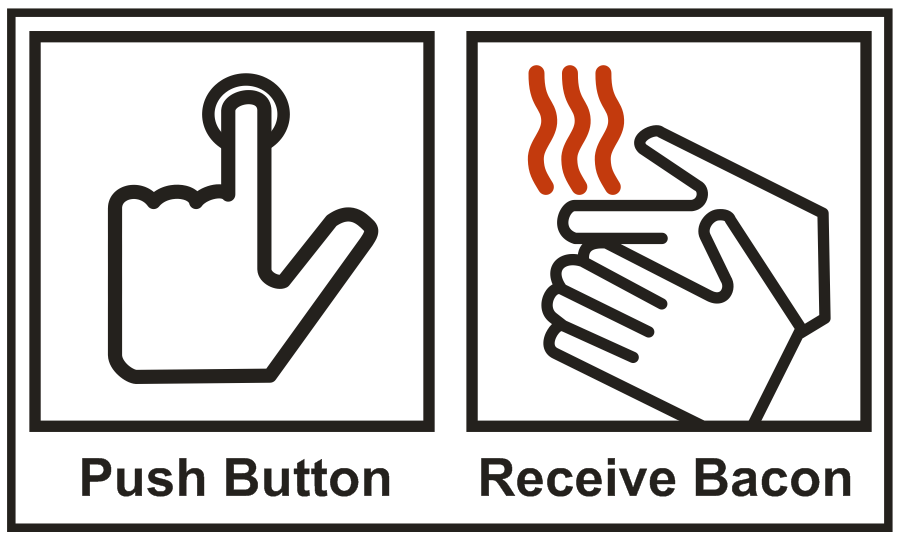 Image result for push button receive bacon