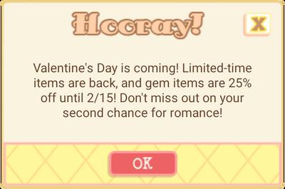 Valentine sale 2016