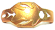 Rise Metal Cross Gold Chrome
