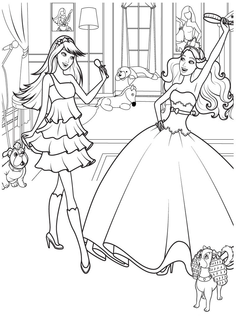 Coloring pages barbie princess and the pauper - Barbie Coloring Page Barbie Coloring Page 10 Free Printable Ever