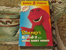 Barney's Birthday & Home Sweet Homes VHS Cover