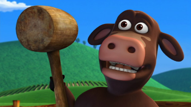 Back in the barnyard nude will your