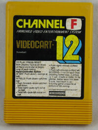 Videocart 12- Baseball