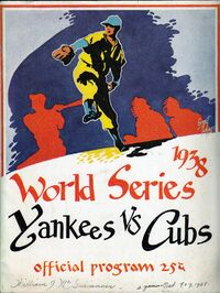 1938 World Series Program